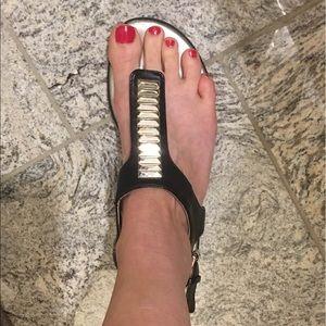 Sexy Black Bandolino Thong Sandals size 7